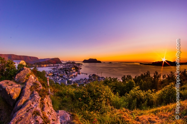Amazing sunset from Aksla, Ålesund, Norway