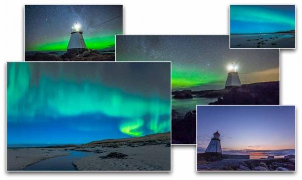 Aurora borealis (polar lights) time-lapse one season hunting