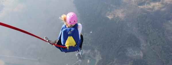 Craziest thing to do: jumping from an aircraft with a parachute and skydiving alone!