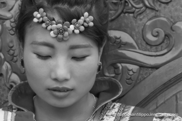 Mongolian woman portrait