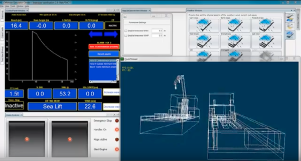 Integrated Flexible Maritime Crane Architecture for the Offshore Simulation Centre AS (OSC): A Flexible Framework for Alternative Maritime Crane Control Algorithms