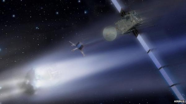 Rosetta - comet mission. Image courtesy of AIRBUS