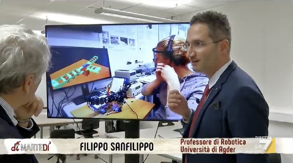 The University of Agder research activity showcased on Italian TV