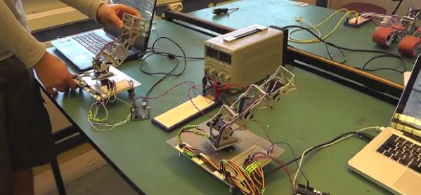 The demonstrator and imitator robots