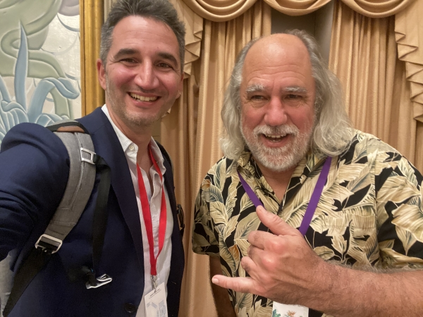 Filippo Sanfilippo and Grady Booch, the inventor of the Unified Modelling Language (UML)