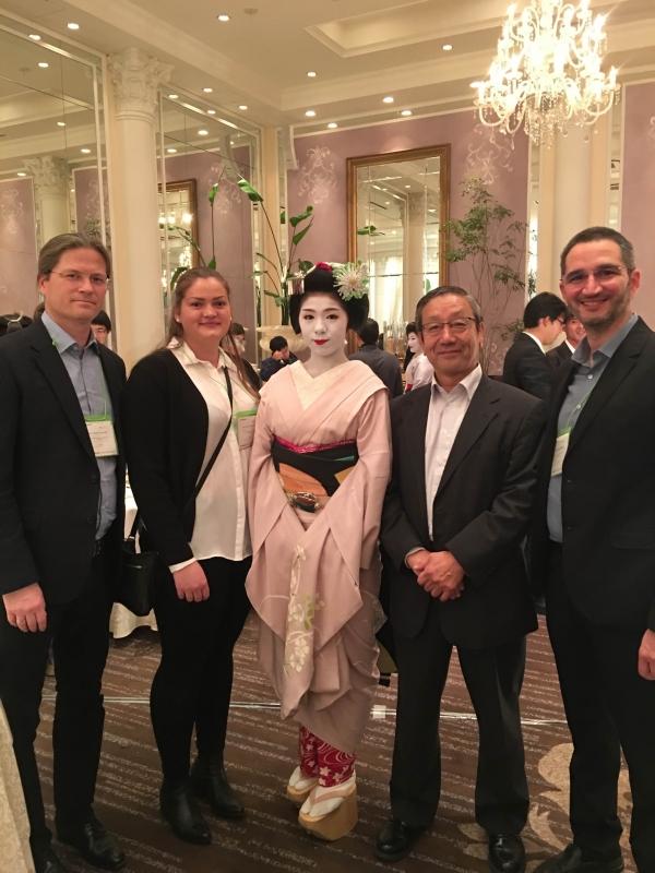 NTNU delegation at SWARM 2017 met the award winning pioneer of robotics Prof. Shigeo Hirose