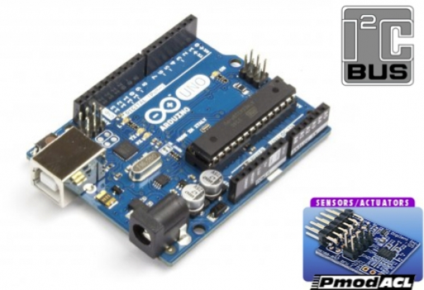 PmodACL accelerometer: sending data from Arduino to Processing with the I2C protocol