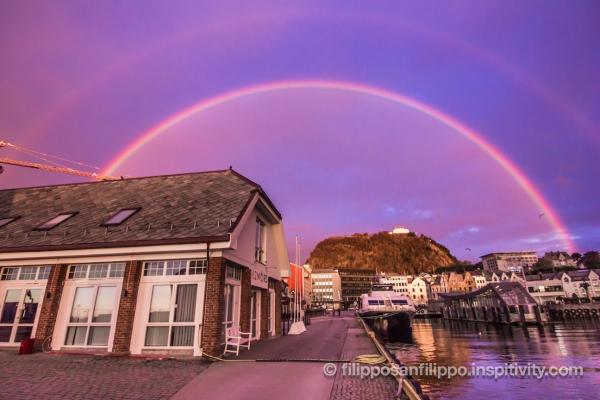 Rainbow over Ålesund, Norway