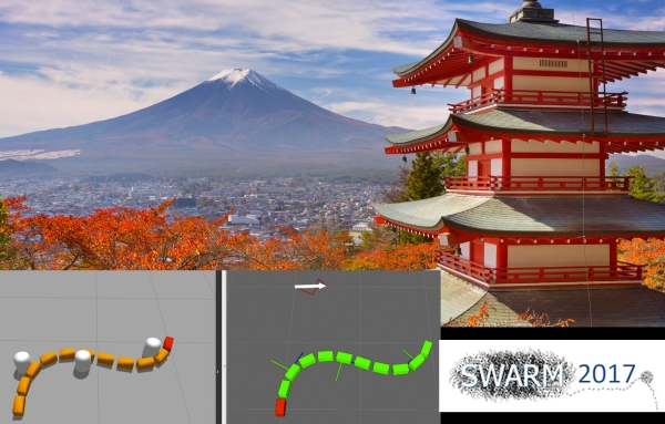 SnakeSIM, our Snake Robot Simulation Framework for POAL has been accepted for publication at SWARM 2017
