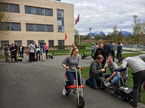 Sykkelløp, a motorcycle race competition at AAUC