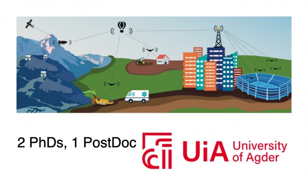 Three positions open as PhD and Postdoc at University of Agder (UiA)