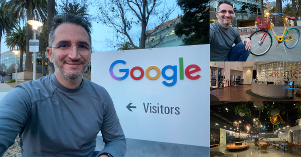 Visiting the Googleplex office in Mountain View